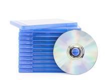 DVD-Kasten mit Diskette Stockfoto
