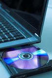 DVD and laptop Stock Photos