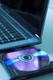 DVD and laptop Stock Photos