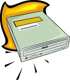 DVD Laufwerk Stockbild