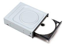 DVD Laufwerk mit Platte Lizenzfreie Stockfotografie