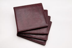 DVD leather cover royalty free stock photo