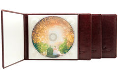 DVD leather cover royalty free stock photos