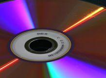 DVD lights. DVD-R disc close-up Stock Photography