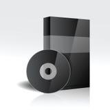 DVD lub cd pudełko Zdjęcia Stock