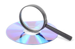 DVD and magnifier Stock Image