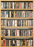 DVD movie collection Stock Photos