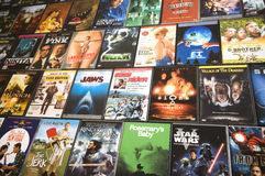 DVD movie collection, studio shot