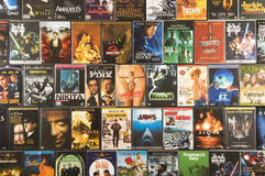 DVD movie collection, studio shot Royalty Free Stock Photo