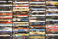 DVD movie collection, studio shot Stock Photography