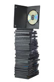 DVD Movies In Packing Boxes Stock Photo