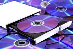DVD multi recorder & cd's Royalty Free Stock Image