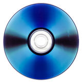 DVD nad bielem obraz stock
