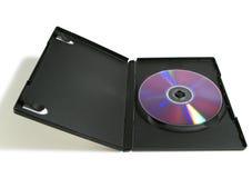 DVD nel caso Immagini Stock