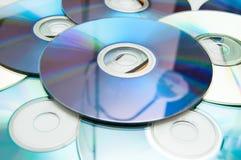 DVD och CD bakgrund Royaltyfri Fotografi