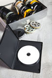 Dvd and old 8 mm and Super8 Royalty Free Stock Photography