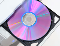 Dvd in open tray Stock Photography
