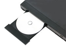 DVD In Open Tray. Stock Images