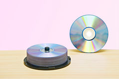 DVD  and pack of DVDs Royalty Free Stock Images