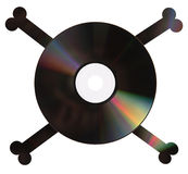 dvd piratkopierar white Royaltyfri Fotografi