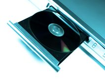 Dvd player. Cool blue concept royalty free stock images