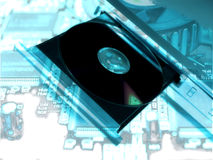Dvd player. Technology abstract background stock image
