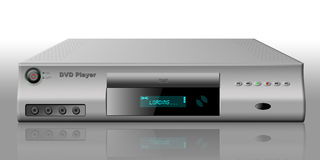 DVD Player. DVDV player loading with reflection Stock Image