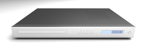 DVD Player. 3D rendered Illustration. DVD Player Stock Photography