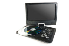 Dvd player. Portable dvd player isolated on white background royalty free stock photo