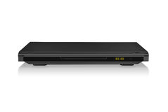 DVD player. On a white background in black on a white background royalty free stock images