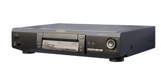 DVD Player. Black DVD Player; isolated, clipping path included royalty free stock photos