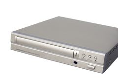 DVD Player. Silver DVD Player; isolated, clipping path included Royalty Free Stock Images