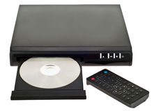 DVD player. Photo of the dvd player over the white background stock image