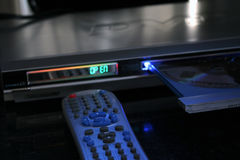 DVD player. Remote control Royalty Free Stock Image