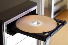 DVD Player. Open with DVD on tray Royalty Free Stock Photo