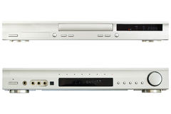 DVD  Player AV Receiver. On a white background Royalty Free Stock Image