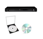 DVD player with cd disk Royalty Free Stock Image