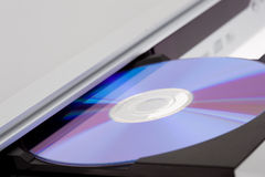 DVD player ejecting disc Royalty Free Stock Photos