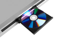 DVD player ejecting disc Stock Photo