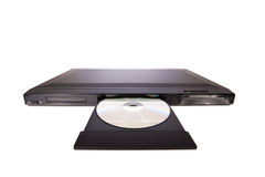 DVD player ejecting disc Stock Photos