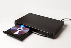 DVD player ejecting disc isolated on white Stock Image