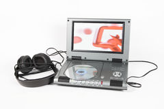 DVD player with headphones Royalty Free Stock Images