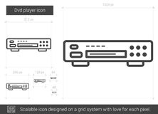 Dvd player line icon. Royalty Free Stock Images