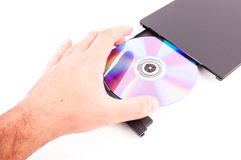 DVD player open Stock Images