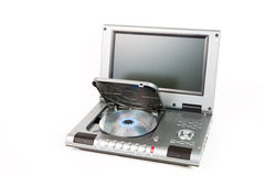 DVD player with open lid. On white background royalty free stock images
