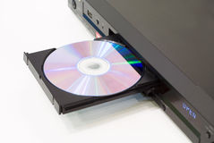 DVD player with an open tray Royalty Free Stock Photography