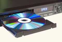 DVD player with an open tray Royalty Free Stock Images