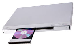 DVD player with open tray Royalty Free Stock Images