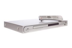 DVD player with remote control Royalty Free Stock Image