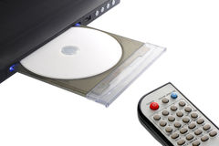 Dvd player with remote control Stock Image